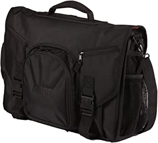 Gator Cases Club Series DJ Controller Messenger Bag with Bright Orange Interior; Fits 19