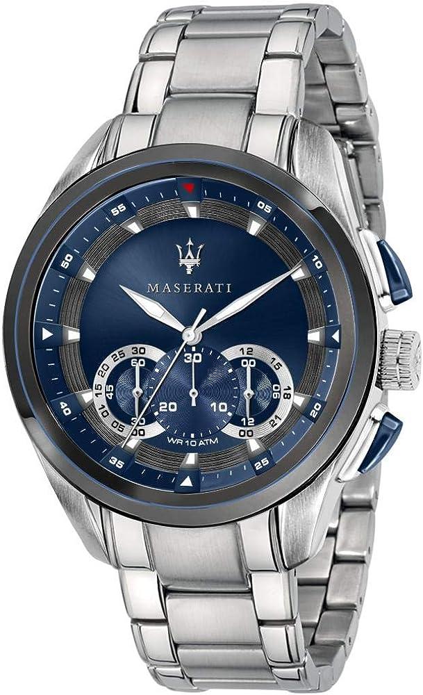 Maserati orologio da uomo, collezione traguardo cronografo,in acciaio inossidabile 8033288880400