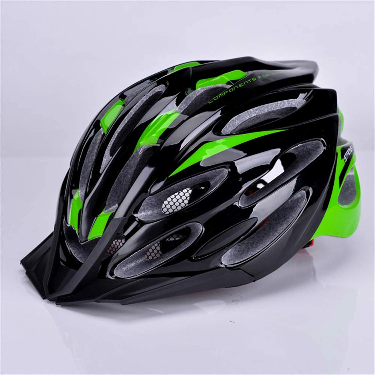 DirectSelling Bicycle Helmet Mountainous Bicycle Riding Helmet Road Safety Helmet for Men and Women with Hat Eaves InsectProof Net,Green