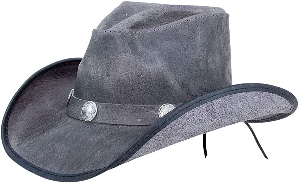 American Hat Makers Cyclone Leather Cowboy Hat for Men and Women — Handcrafted
