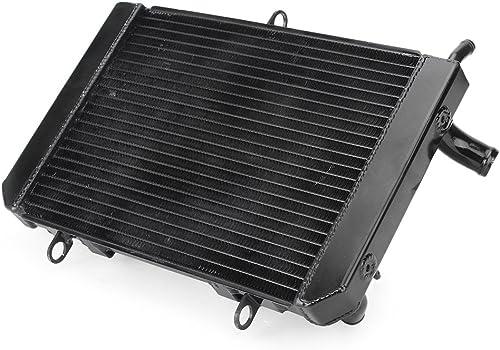 Mallofusa Motorcycle Aluminum Radiator Cooling Cooler Replacement Compatible for Suzuki GSR400 GSR600 2006 2007 2008 2009 2010 2011 2012 2013 2014 2015 2016 Black
