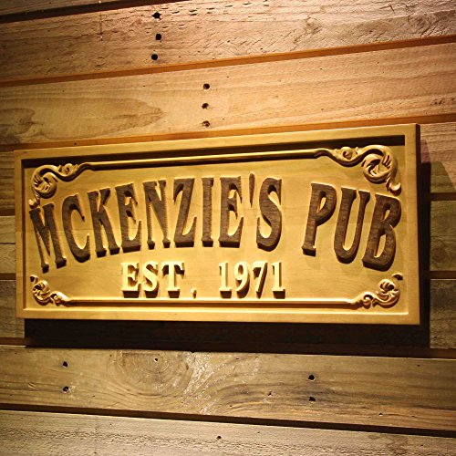 wpa0353 Name Personalized PUB Bar Decoration Home Bar Gifts Wood Engraved Wooden Sign