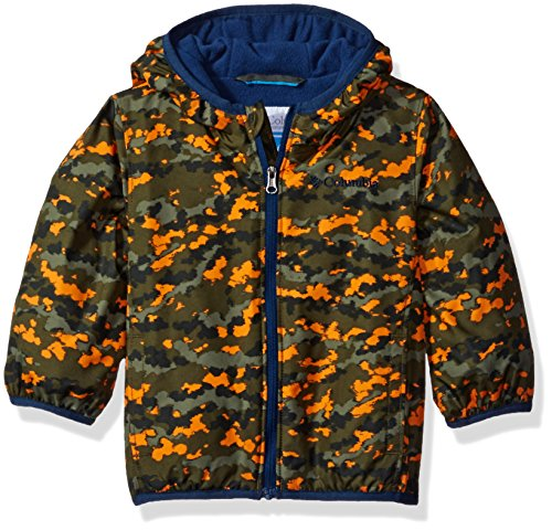 Columbia Baby Boys' Mini Pixel Grabber II Wind Jacket, Cypress Camo, 0-3 Months