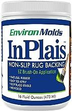 InPlais Non-Slip Area Rug Backing (16 oz.) Fabric & Floor Safe Latex Layer | Easy, Paint-On Application Liquid | Kitchen, ...