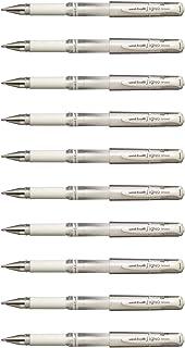 三菱鉛筆 ゲルインクボールペン ユニボール シグノ 太字 1.0mm ホワイト UM153.1 1セット(10本)