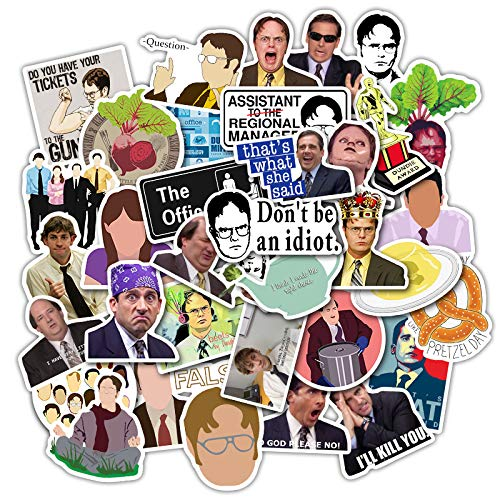 Office Waterproof Stickers Pack of 50 Stickers for Laptops, Funny Merchandise Laptop Stickers for Laptops, Computers, Hydro Flasks, Skateboard and Travel Case