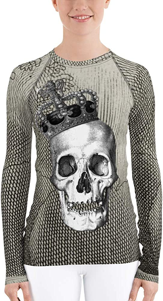 Frox Apparel Design Skull King Women's Rash Guard by Ross Farrell
