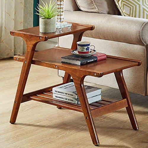 Xiaolin Simple Moderne Canapé Bord Petit Appartement Solide Bois Table Basse Rangement Simple Multifonctionnel Coin Table Et Deux Couleurs (Couleur : Le Jaune)