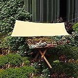 WMEIE Toldo De Jardín, Toldo De Toldos De Bloque UV De Protección Solar, Toldos para Pérgola Al Aire Libre, Patio, Jardín,Beige,3x8m