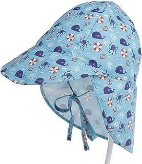 iClosam Bebés Sombrero de Protección Solar UPF 50+,Sombrero de Playa Ajustable para Niños Niñas Secado Rápido para Vacaciones,Playa(6 Meses-5 años)