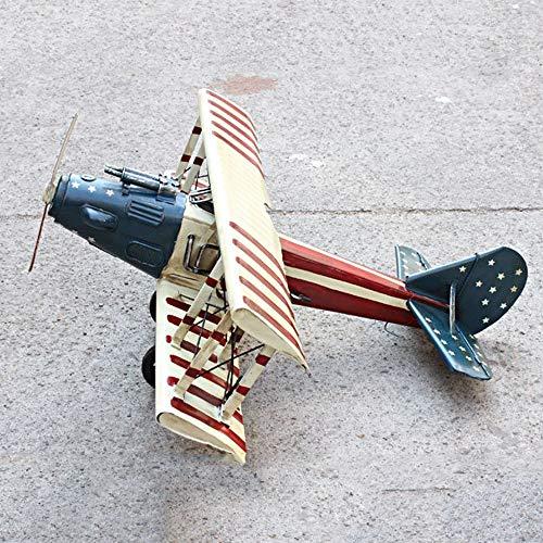 ETH Retro Om Het Oude Hand-Metalen Vliegtuig Model Vliegtuig Model Amerikaanse Vlag Om Stuur De Jongens Gift Ideeën Home Decoratie Gift 43X44X19cm Halloween carnaval
