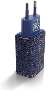 Tomada USB Jeans, i2GO, 1 Entrada usb, Saída 5.0v – 2.4 amps, Azul