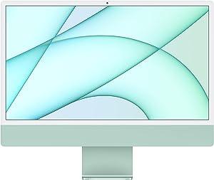 2021 Apple iMac (24-inch, Apple M1 chip with 8‑core CPU and 8‑core GPU, 8GB RAM, 512GB) - Green