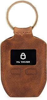 Londo OTTO281 - Funda de Piel auténtica con Llavero para Trezor One Bitcoin, Unisex, Color marrón