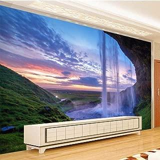 WEMUR Cortina de agua Cueva Cascada Foto Papel tapiz Mural para sala de estar Dormitorio Decoración de pared Papel de parede quarto Papel de pared 3D, 430x300 cm (169.3 por 118.1 pulg.)
