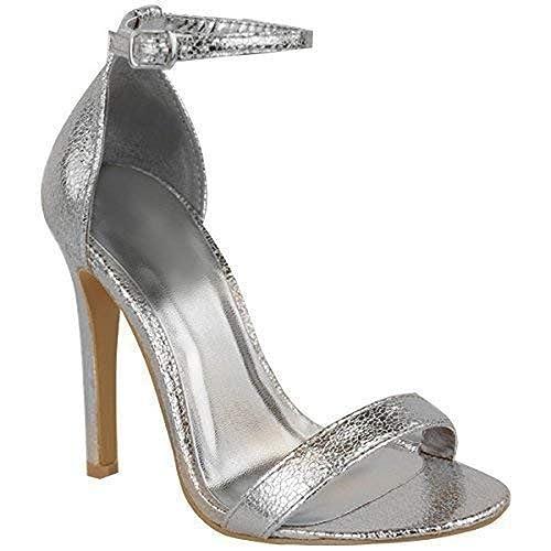 05cfc8f16b1a Fashion Thirsty WOMENS LADIES STRAPPY STILETTO HIGH HEEL SANDALS ANKLE STRAP  CUFF PEEP TOE SHOE
