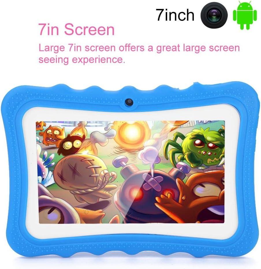 VBESTLIFE 7in /Écran Tactile Enfants Tablette PC WiFi Tablette dapprentissage et de Jouer pour Les Enfants Bleu