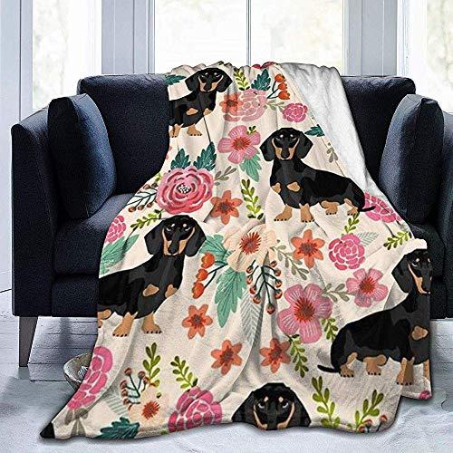 wobuzhidaoshamingzi deken van molton, bijzonder zacht, voor honden en bloemen