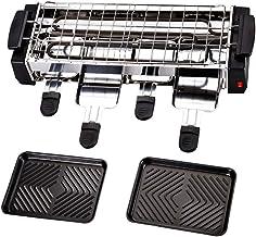 Raclette Gril Multifonctionnel Acier Inoxydable Alliage D'aluminium Avec Antiadhésive Plaque De Cuisson 1200W Sain Et Moin...