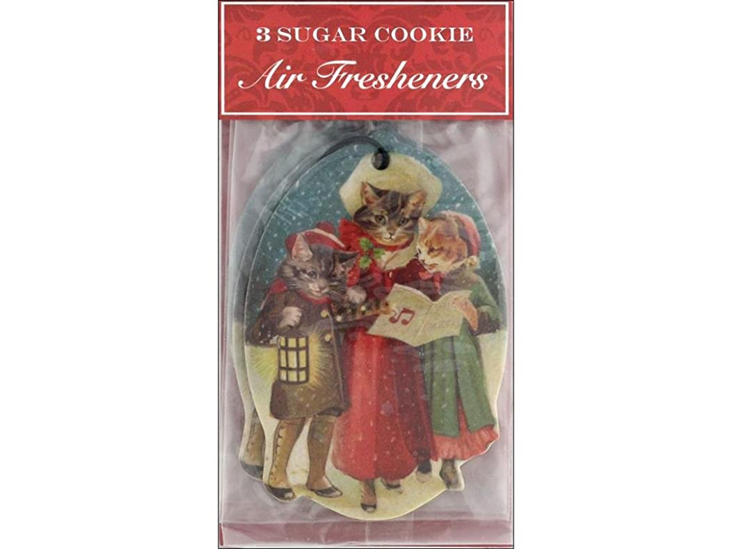 Punch Studio Holiday Air Freshener Cat Caroler 3pc