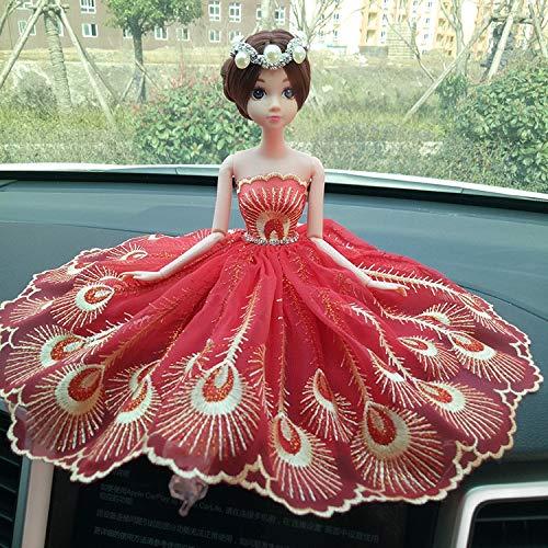 RGHG Ornamento de decoración de la Boda del Interior del Coche muñecas Divertido Lindo for su Boda del Tablero de Instrumentos Accesorios Decoraciones for el Car Girl (Color Name : N)