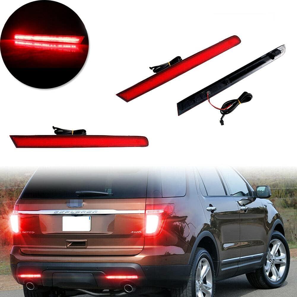 Red Lens LED Bumper Popular brand Reflector Rear 2011-2015 40% OFF Cheap Sale for Fog Ford Lights