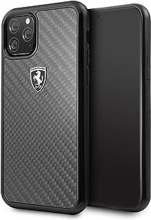 CG Mobile Ferrari Real Carbon Fiber Case for iPhone 11 Pro Cell Phone Cover Off Track Black Carbon Hard Case Black Drop Pr...