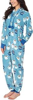 Munki Munki Ladies Hooded Fleece Onesie, One-Piece Pajamas