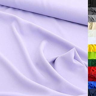 TOLKO Modestoff | Dekostoff universal Stoff zum Nähen Dekorieren | Blickdicht, knitterarm | 150cm breit Meterware Bekleidungsstoffe Dekostoffe Vorhangstoffe Baumwollstoffe Basteln Patchwork Flieder