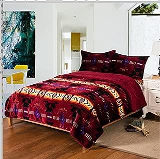 Nu Trendz Signature Collection 3pcs Sherpa Set, Queen Size, Burgundy