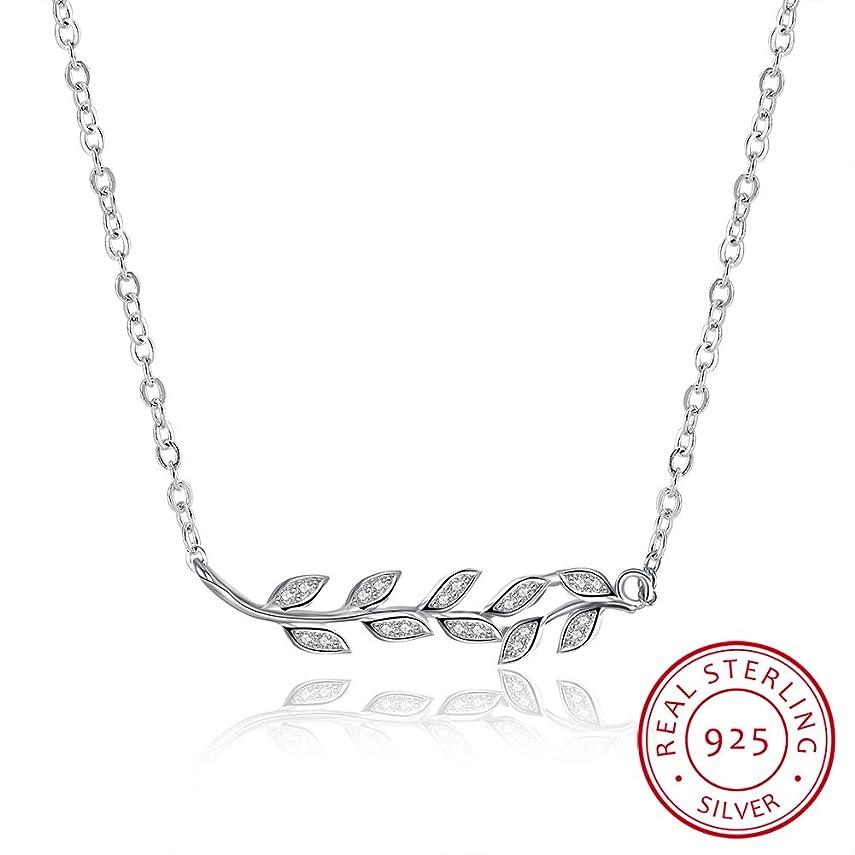 固める重量ピービッシュ925純銀のネックレス 木の葉の鎖骨のネックレス 可愛い 人気アクセサリ