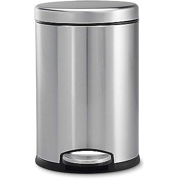 Eversteel Stainless Steel Plain Pedal Dustbin/Plain Pedal Garbage Bin with Plastic Bucket 11 LTR (10x15 Inch)