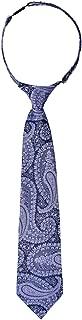 Retreez Paisley Art Pattern Woven Microfiber Pre-tied Boy's Tie -
