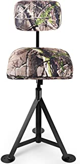 LDAILY Moccha Camouflage Swivel Hunting Chair, Portable...