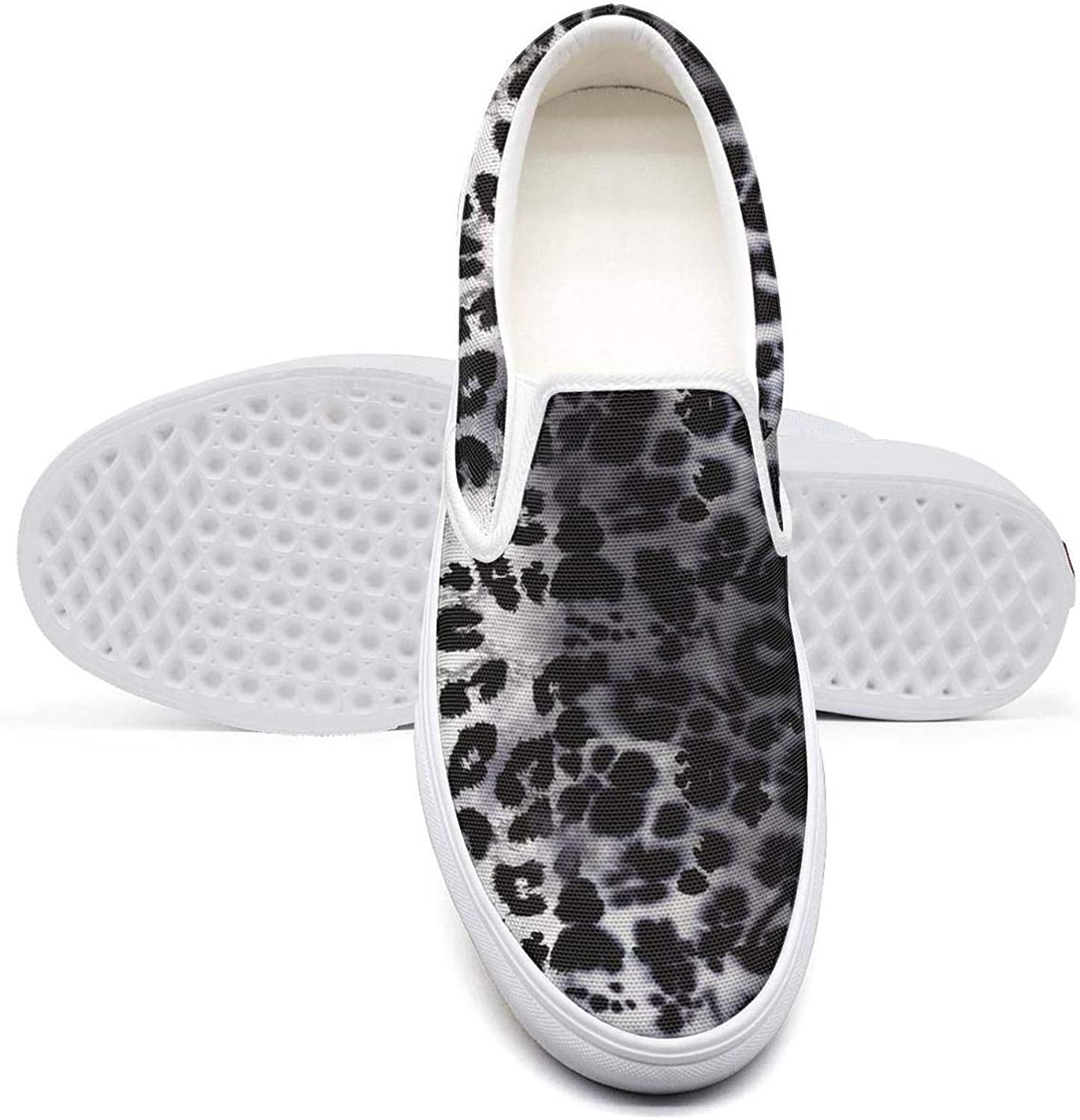 Eredfs Leopard Cheetah Print Ink Black Men's Gift Classic Canvas Sneakers Fashion Tennis shoes