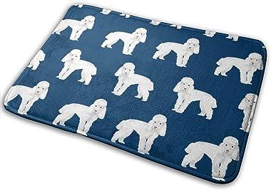 Toy Poodle Dog Pattern Dog Navy_20152 Doormat Entrance Mat Floor Mat Rug Indoor/Outdoor/Front Door/Bathroom Mats Rubber Non S