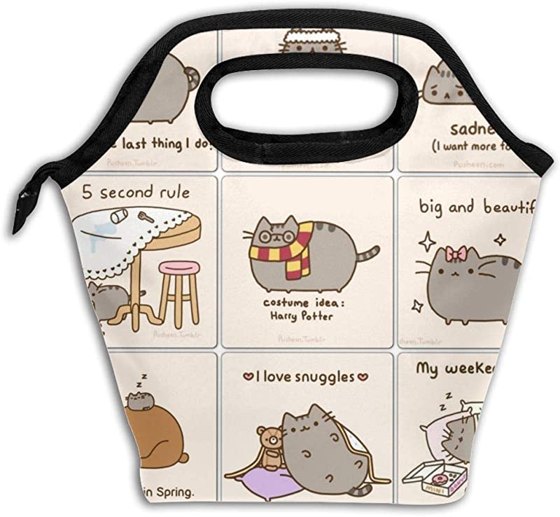 Pu Sh Een Cat Durable Lunch Box Insulated Lunch Tote Picnic Bags Ice Pack For Kids And Adult Men Women