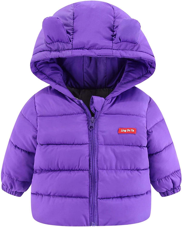Newborn Boys Girls Toddler Baby Winter Cotton Hooded J Warm Max Over item handling 47% OFF Down