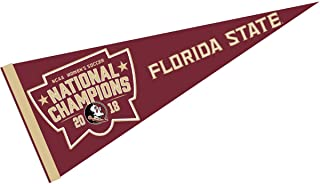 College Flags and Banners Co. Florida State Seminoles 2018 Womens Soccer Champions Pennant