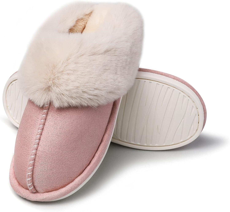 BSROT Women's Memory Popular brand in the world Brand new Foam Slippers Fluffy Soft on Warm Slip Hous