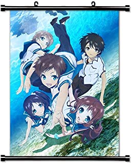 Nagi no Asukara Anime Fabric Wall Scroll Poster (16x22) Inches. [WP] Nagi no Asukara-1