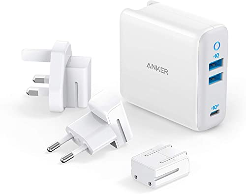 wholesale USB C Charger, Anker 65W PIQ 3.0&GaN Type-C Charger with a 45W PD Port, PowerPort III 3-Port 65W Charger with US/UK/EU discount Plugs for Travel, for MacBook, USB-C Laptops, iPad Pro, iPhone, Galaxy and popular More outlet online sale