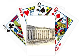 Acropolis of Athens of Greece Poker Playing Magic Card Fun Board Game