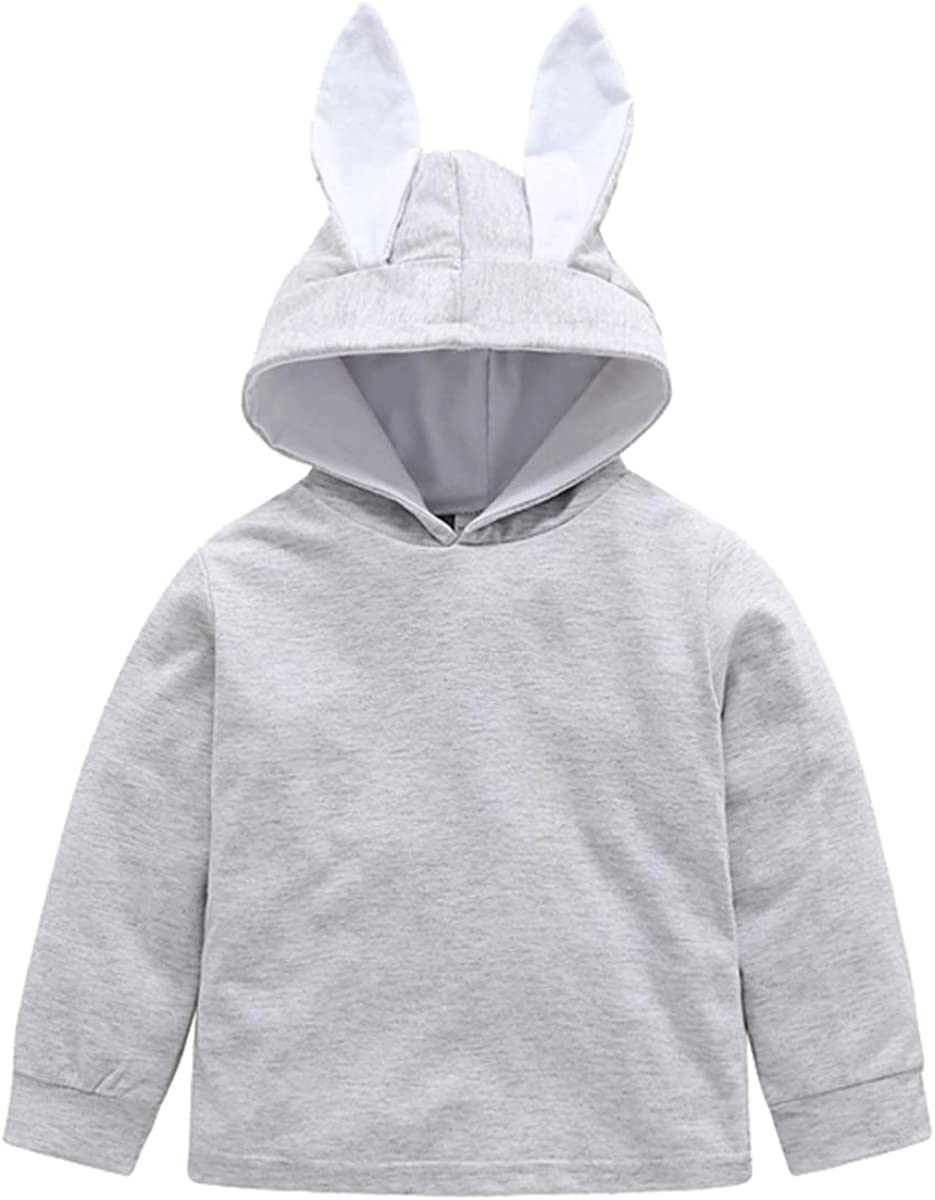 Baby Girl Long Sleeve Hoodie Rabbit Ear Hooded Tops Sweatshirt Outwear Clothes