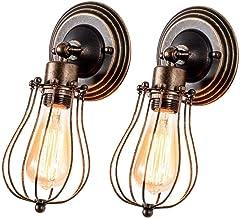 Wandlamp, vintage, verstelbaar, metaal, antieke wandlamp, rustiek, voor landhuis, slaapkamer, woonkamer, eettafel [energie...