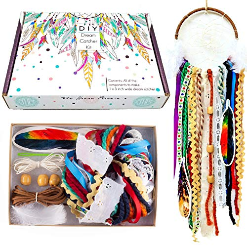 Colorful Make Your Own Dream Catcher Craft Kit Do It Yourself Home Decor DIY Wall Hanging Stocking Stuffer Christmas Xmas Birthday Gift