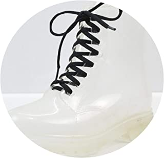 f55622c3fb1a Tiwcer Jelly Shoes Rain Boots Ladies Shoes Women Fashion Women s Flat  Transparent Martin Boots Water Shoes