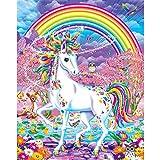 XIAOJIJI Diy Pintura al leo por nmero Kits sobre lienzo para adultos Nios Artes Artesana para el hogar Decoracin de la pared Mitologa animal 16x20 pulgadas sin marco