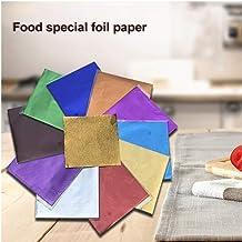 PiniceCore 10 Couleurs Emballage Décor Bricolage Chocolat Bonbons Thé à la Main papiers Alimentaires en Feuille d'aluminiu...