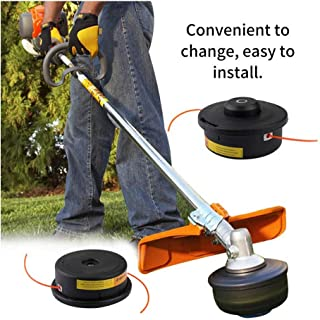 Iusun Lawn Mower Weed Trimmer Head Frosted Plastic Grass Top Rope Strimmer Accessory Sharpener Power Lawnmower for Garden Grass Never Damage Trees